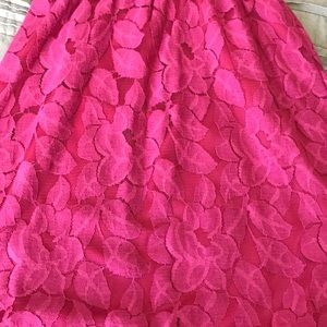 Ultra Pink Dresses - Lace Dress
